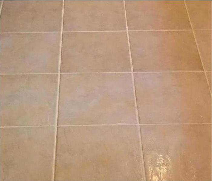 while tile that has just been cleaned and looks new